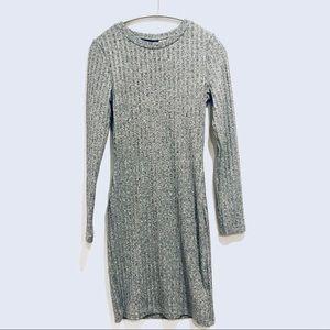 H&M Gray Dress long sleeve